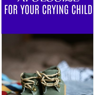 Why You Shouldn't Apologize For Your Crying Child