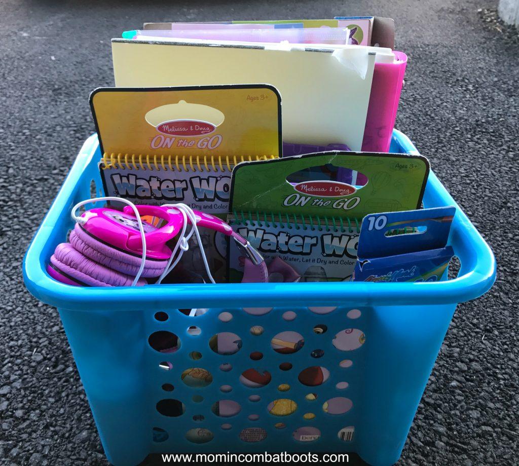 kids travel bin