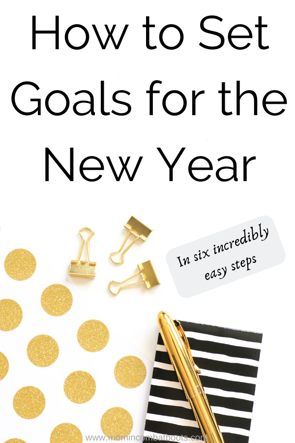 How to set goals for the new year | Mom in Combat Boots The new year is just around the corner have you begun your goal setting? These 6 simple steps will you to set your goals and intentions for the new year.