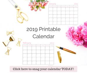 Printable calendar for 2019