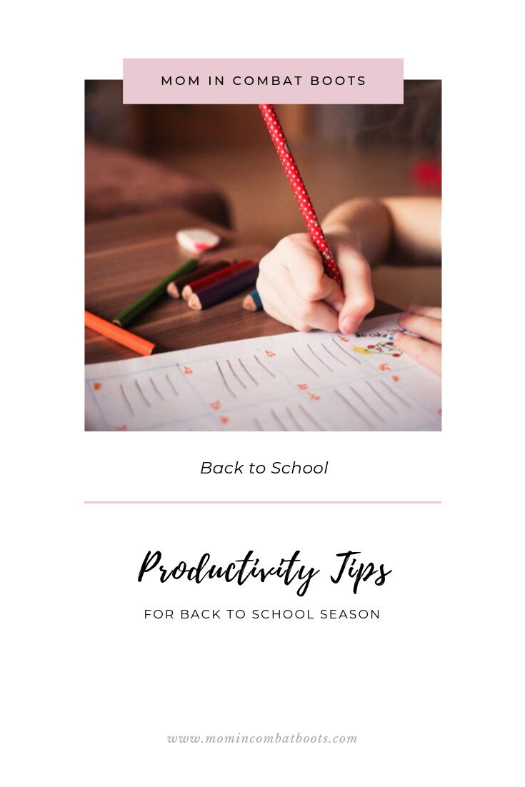 Back to School Tips | Mom in Combat Boots