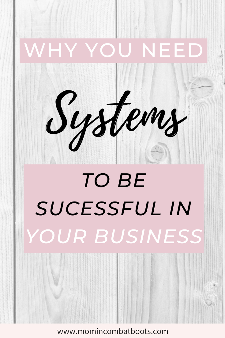 Why you need systems in your business | Mom in Combat Boots Running a business can be hard. But it does not have to be. With systems in place you can significantly increase your business productivity.